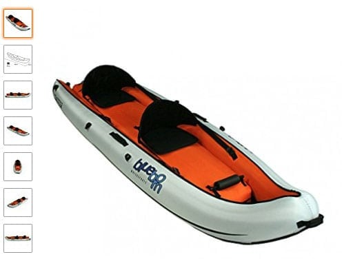 Blueborn Coasteer SRE 300: kayak cómodo con asientos ajustables