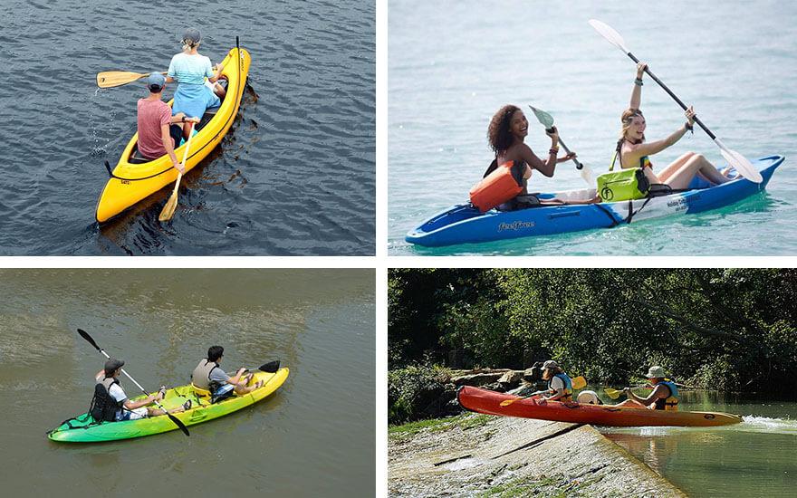 kayak rigido 2 personas